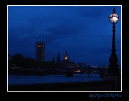 Big Ben in Parliament Blue by AlperSargin