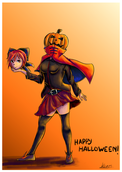 Happy Halloween from Sekibanki!~ by Karias-K