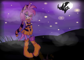 Amy In The Halloweeny Dark by AlmightyYing