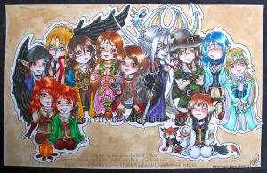 :: The Elements :: - Chibi Party by Judicial-Noir