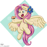 Her First Butterfly by schizophrenicGhost