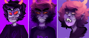 Gamzee redraws by zamii070