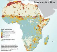 Water Scarcity Map of Africa by FringerFrankie
