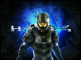 halo 4 inspired background by geordiebe