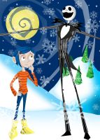 Coraline in Christmas Land by memorypalace