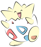 Togepi Coloured by ensnarings