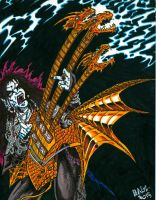 Ragz With His King Ghidorah Guitar by ragzdandelion