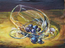 Grapes in goblet by Vincik