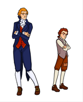 Young Jefferson and Hamilton by Publius-Reporter