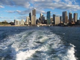 City from the Ferry Stock by shapestock