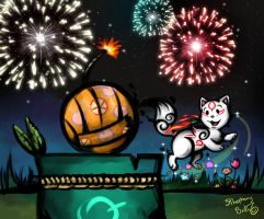 Okamiden - Happy New Year by sthephanymel