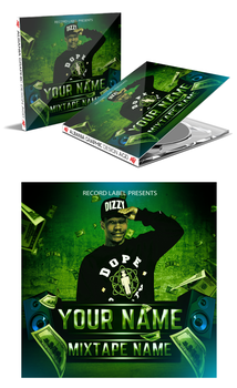 Mixtape Album Cd Cover .Psd Photoshop File by AlbaniaGraphicDesign