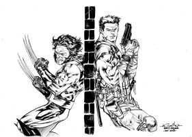Wolverine vs Punisher - Paris Manga SciFi Show by SpiderGuile
