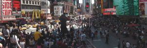 Times Square Big Stairs View by TheSpazOutLoud