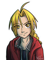 Edward Elric Headshot by Senshee