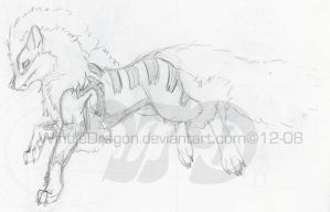 Arcanine-wolf3 by WindieDragon