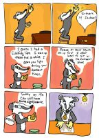Badger comics : Light bulb by Scurrow