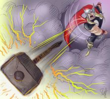 Thor:  Have at thee. by scootah91