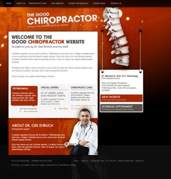 Chiropractor design template by jpdguzman
