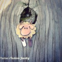 sheep necklace :) by Parisai
