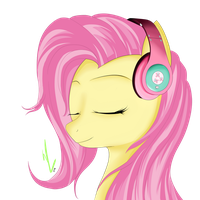 Fluttershy's Headphones by Winterrrr