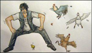 Dances with Chickens by greenzaku