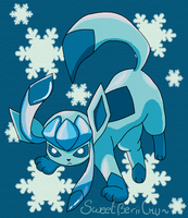 Tough and Brave Glaceon by SweetBeriiChu