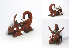 Oops! Polymer Clay Dragon by MiniMythicalMonsters