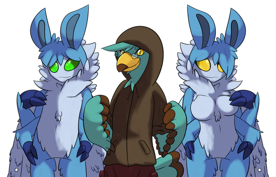 [Commission/Request] Mothies and a Birb by LordGengar