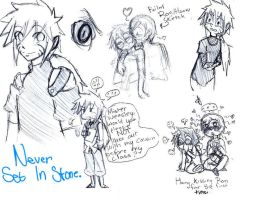NarutoxHP: Never Set In Stone Small Sketch Dump by BlueRoseFox
