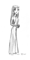 Starfire Gown Sketch by SFToon