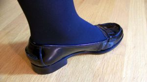 Nadia's Antonov Aircrew Black Patent Penny Loafers by peerlesspenny