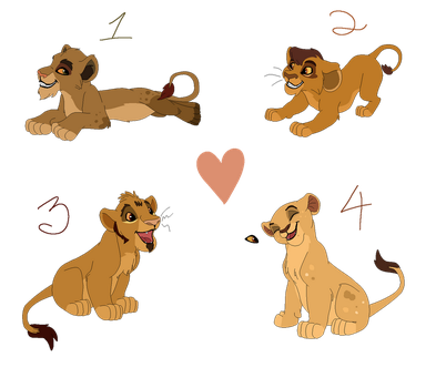 Buni x Mufasa Adopts - Closed by Witch-Doctais46