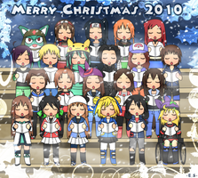 Christmas OC group pic by Endless-Rainfall