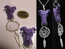 Purple Dragon pendant by SaQe
