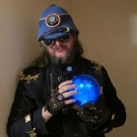 Steampunk Blue Lantern Pith Helmet 7 by Windthin