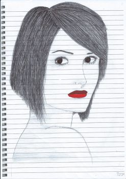 Red Lips Drawing by Mayble-Leaf