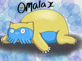 Pokemon fusion: omalax by dragorazer