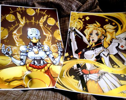 Gold foil prints for Conventions! by KrazyD