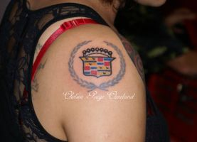 Old Cadilac Emblem by Chelsea by SmilinPirateTattoo