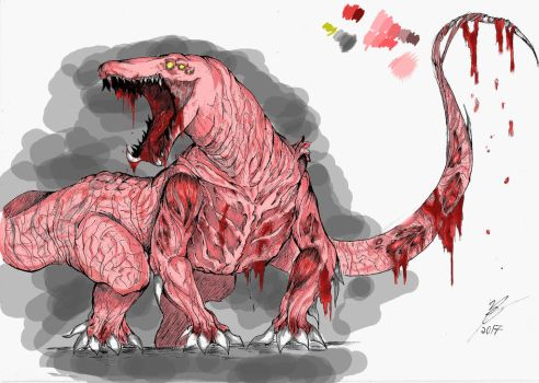 Hard to Destroy Reptile Pink Concept by Y-Drawings