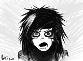 Andy Biersack Doodle 2 by FacelessMachine