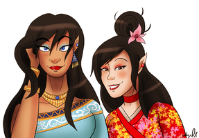 G: Shrimati and Rika by geekgirl8