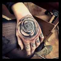 hand rose by Richroyalty