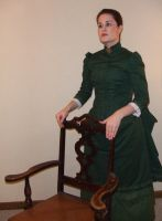 1883 Bustle Gown 02 by ladyrose04