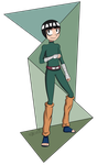 Rock Lee in my cartoon style by Zivichi