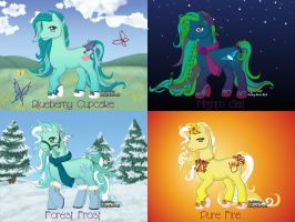 4 free adopts: OLD STYLE PONYS CLOSED by NeonVoltage