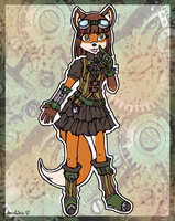 ADOPTABLE :: TOTW :: Steampunk Fox Girl by Amalika