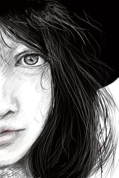 Girl with hat by Zayther