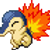 Cyndaquil Pokemon emote by Emoticon-Man